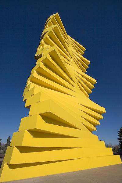Denver Yellow Articulated, Denver, Colorado, USA John offers private photo tours of Denver, Boulder and Rocky Mountain National Park.