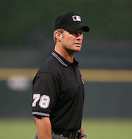 2007:  MLB Umpire Jim Wolf at U.S. Cellular Field during an American League baseball game.  Photo by Mike Janes/Four Seam Images
