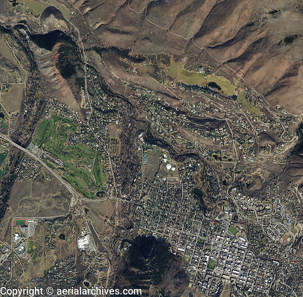 aerial photo map of Aspen Pitkin County, Colorado