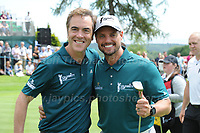 Actor James Nesbitt and Boyzone band member Keith Duffy during The 2017 Celebrity Cup at the Celtic Manor Resort, Newport, South Wales, 01.07.2017<br /> <br /> <br /> Jeff Thomas Photography -  www.jaypics.photoshelter.com - <br /> e-mail swansea1001@hotmail.co.uk -<br /> Mob: 07837 386244 -