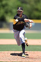 Pittsburgh Pirates pitcher Cody Eppley (26) during a minor league spring training intrasquad game on March 30, 2014 at Pirate City in Bradenton, Florida.  (Mike Janes/Four Seam Images)