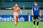 Jeju United Defender Chung Woon gestures during the AFC Champions League 2017 Group H match Between Jeju United FC (KOR) vs Gamba Osaka (JPN) at the Jeju World Cup Stadium on 09 May 2017 in Jeju, South Korea. Photo by Marcio Rodrigo Machado / Power Sport Images