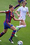 Liga IBERDROLA 2020-2021. Jornada: 18.<br /> FC Barcelona vs R. Madrid: 4-1.<br /> Patri Guijarro vs Thaisa de Moraes.