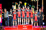Best team award to BMC Racing Team, Samu Sanchez, Dylan Teuns, Jean-Pierre Drucker, Silvan Dillier, Ben Harmans, Danilo Wyss and Darwin Atapuma during La Vuelta a España 2016 in Madrid. September 11, Spain. 2016. (ALTERPHOTOS/BorjaB.Hojas)