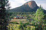 MOUNTAIN HOME WITH ROCK FORMATION
