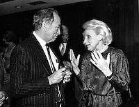 Dec 1986 File Photo - Pierre Trudeau , Jeanne Sauve