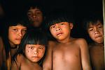 Upper Xingu Indian children, Matogrosso Region, Brazil