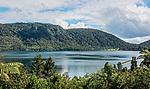 Blue Lake (Tikitapu in the Maori language), near Rotorua. This photo and the photo of Green Lake (Rotokakahi) were taken at the same spot, looking in opposite directions.