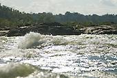 Pará State, Brazil. Xingu River. Rapids.