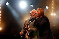 Photo by © Stephen Daniels 13/06/2015---<br /> Rock 'N' Horse Power Concert at Hurtwood Park Polo Club, Ewhurst, Surrey for Prostate Cancer UK. <br /> Jim Cregan & Robert Hart