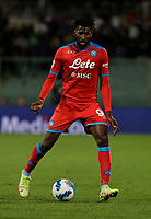 3rd October 2021; Franchi Stadium, Florence, Italy; Serie A football, Fiorentina versus Napoli : Andre Frank Anguissa of Napoli