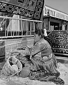 "0301-334. ""Navajo Weaver at Little Arrow Trading Post"" Morristown, Arizona, November 17, 1957"