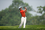 Li Hao-tong from China hits the ball during Hong Kong Open golf tournament at the Fanling golf course on 22 October 2015 in Hong Kong, China. Photo by Xaume Olleros / Power Sport Images