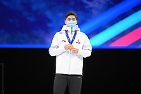 SPEEDSKATING: DORDRECHT: 06-03-2021, ISU World Short Track Speedskating Championships, Podium 500m Men, Shaoang Liu (HUN), ©photo Martin de Jong