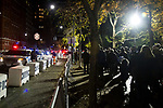 NEW YORK, NY – NOVEMBER 21: Hundreds of people visited the balloons of the annual Macy's Thanksgiving Day parade the night before the parade on November 21, 2018 in New York City. While hundreds of police watch the parade area. (Photo by Pablo Monsalve /VIEWPress)