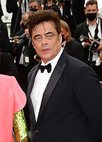 CANNES, FRANCE. July 12, 2021: Benicio Del Toro at the gala premiere of Wes Anderson's The French Despatch at the 74th Festival de Cannes.<br /> Picture: Paul Smith / Featureflash