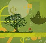 Illustrative representation conveying go green message