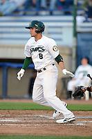 Beloit Snappers third baseman Renato Nunez #8 during a game against the Cedar Rapids Kernels on May 22, 2013 at Pohlman Field in Beloit, Wisconsin.  Beloit defeated Cedar Rapids 7-6.  (Mike Janes/Four Seam Images)