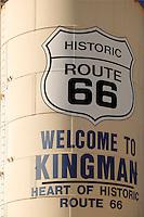 Water tank in Kingman, Arizona, Route 66, Arizon