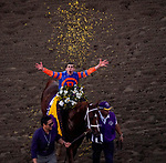 November 2, 2019 : Vino Rosso, ridden by Irad Ortiz, Jr., wins the Longines Breeders' Cup Classic on Breeders' Cup Championship Saturday at Santa Anita Park in Arcadia, California on November 2, 2019. John Voorhees/Eclipse Sportswire/Breeders' Cup/CSM