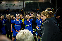 Seattle, WA - April 15th, 2017: Laura Harvey following a regular season National Women's Soccer League (NWSL) match between the Seattle Reign FC and Sky Blue FC at Memorial Stadium.