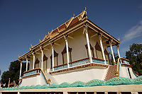 Pagoda on Kaoh Trong<br /> island near Kratie, Cambodia,<br /> October 2020.