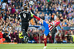 Fernando Torres (r) of Atletico de Madrid battles for the ball with Sergio Ramos of Real Madrid during their 2016-17 UEFA Champions League Semifinals 2nd leg match between Atletico de Madrid and Real Madrid at the Estadio Vicente Calderon on 10 May 2017 in Madrid, Spain. Photo by Diego Gonzalez Souto / Power Sport Images