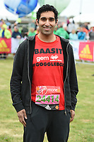 Baasit Sidiqui (Gogglebox)<br /> at the start of the 2017 London Marathon on Blackheath Common, London. <br /> <br /> <br /> ©Ash Knotek  D3253  23/04/2017
