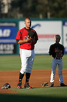 May 19, 2010: Vince Belnome of the Lake Elsinore Storm during game against the Stockton Ports at The Diamond in Lake Elsinore,CA.  Photo by Larry Goren/Four Seam Images