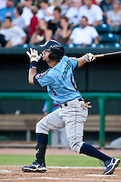 Marwin Gonzalez of the Tennessee Smokies during a game vs. the Jacksonville Suns July 10 2010 at Baseball Grounds of Jacksonville in Jacksonville, Florida. Photo By Scott Jontes/Four Seam Images