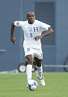 Nery Medina dribbles the ball. Honduras defeated Haiti 1-0 during the First Round of the 2009 CONCACAF Gold Cup at Qwest Field in Seattle, Washington on July 4, 2009.