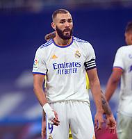 25th September 2021; Estadio Santiagp Bernabeu, Madrid, Spain; Men's La Liga, Real Madrid CF versus Villarreal CF; Karim Benzema did not continue with his scoring streak