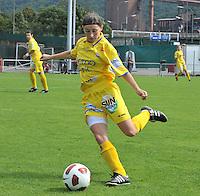 Supercup seizoen 2011 - 2012 ; Kampioen Standard Femina tegen Bekerwinnaar Waasland Beveren Sinaai Girls : Lies Van Hamme.foto DAVID CATRY / Vrouwenteam.be