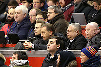 Swansea City chairman Huw Jenkins look glum during the Barclays Premier League Match between Liverpool and Swansea City played at Anfield, Liverpool on 29th November 2015