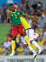 Colombia's Frank Fabra (r) and Cameroon's Ernes Mabouka during international friendly match. June 13,2017.(ALTERPHOTOS/Acero) (NortePhoto.com) (NortePhoto.com)
