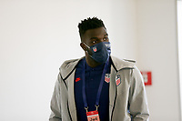 ST. GALLEN, SWITZERLAND - MAY 30: Yunus Musah of the United States before a game between Switzerland and USMNT at Kybunpark on May 30, 2021 in St. Gallen, Switzerland.