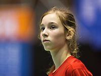 Rotterdam,Netherlands, December 15, 2015,  Topsport Centrum, Lotto NK Tennis, Ballgirl Anouk Koevermans (NED)<br /> Photo: Tennisimages/Henk Koster