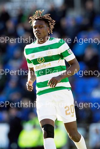 St Johnstone v Celtic…04.11.17…  McDiarmid Park…  SPFL<br />Dedryck Boyata<br />Picture by Graeme Hart. <br />Copyright Perthshire Picture Agency<br />Tel: 01738 623350  Mobile: 07990 594431
