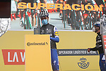 Rémi Cavagna (FRA) Deceuninck-Quick Step most aggressive rider from yesterday's stage at sign on before the start of Stage 17 of the Vuelta Espana 2020, running 178.2km from Sequeros to Alto de la Covatilla, Spain. 7th November 2020. <br /> Picture: Luis Angel Gomez/PhotoSportGomez | Cyclefile<br /> <br /> All photos usage must carry mandatory copyright credit (© Cyclefile | Luis Angel Gomez/PhotoSportGomez)