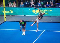 Utrecht, The Netherlands,  September 5, 2021,  Jaarbeurs, Decathlon Copa de Padel, Wesley Snijder (NED) ex soccer player<br /> Photo: Tennisimages/Henk Koster
