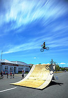 Huri Huri FreeStyleLifestyle BMX display in Martinborough, New Zealand on Tuesday, 24 January 2017. Photo: Dave Lintott / lintottphoto.co.nz