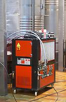 Cooling unit. Clos de l'Obac, Costers del Siurana, Gratallops, Priorato, Catalonia, Spain.