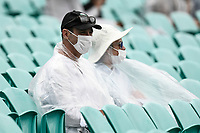 7th January 2021; Sydney Cricket Ground, Sydney, New South Wales, Australia; International Test Cricket, Third Test Day One, Australia versus India; spectators in ponchos as rain interrupts play during the first session