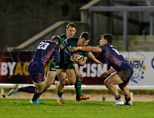 13th March 2021; Galway Sportsgrounds, Galway, Connacht, Ireland; Guinness Pro 14 Rugby, Connacht versus Edinburgh; Sean O'Brien drives forward for Connacht