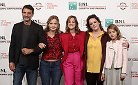 Da sinistra l'attore Vincenzo Amato, la regista Cristina Comencini, le attrici Beatrice Grannò, Giovanna Mezzogiorno, Clelia Rossi Macelli posano durante il  photocall 'Tornare' alla 14^ Festa del Cinema di Roma all'Aufditorium Parco della Musica di Roma, 26 ottobre 2019. <br /> From left: Italian actor Vincenzo Amato, Italian director  Cristina Comencini, italian actresses Beatrice Grannò, Giovanna Mezzogiorno and Clelia Rossi Macelli pose for a photocall to present  'Tornare' during the 14^ Rome Film Fest at Rome's Auditorium, on 26 October 2019.<br /> UPDATE IMAGES PRESS/Isabella Bonotto