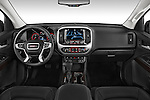 Stock photo of straight dashboard view of a 2015 GMC Canyon SLT Crew Cab SWB 4 Door Truck Dashboard