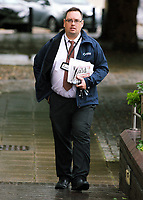 Thomas Sinclair, editor of the Herald newspapers in west Wales, arrives at Swansea Crown Court, Wales, UK. Friday 15 September 2017