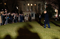 United States President Donald J. Trump greets visitors as he departs the White House en route to Dalton, Georgia, in Washington D.C., U.S., on Monday, January 4, 2021. <br /> CAP/MPI/RS<br /> ©RS/MPI/Capital Pictures
