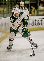 18 December 2016: University of Vermont Catamount Defenseman Matt O'Donnell, a Freshman from Fountain Valley, CA, in first period action against the Union College Dutchmen at Gutterson Fieldhouse in Burlington, Vermont. The Catamounts fell to their former ECAC hockey rivals 2-1, as the Dutchmen sweep the two-game weekend series. Mandatory Credit: Ed Wolfstein Photo *** RAW (NEF) Image File Available ***