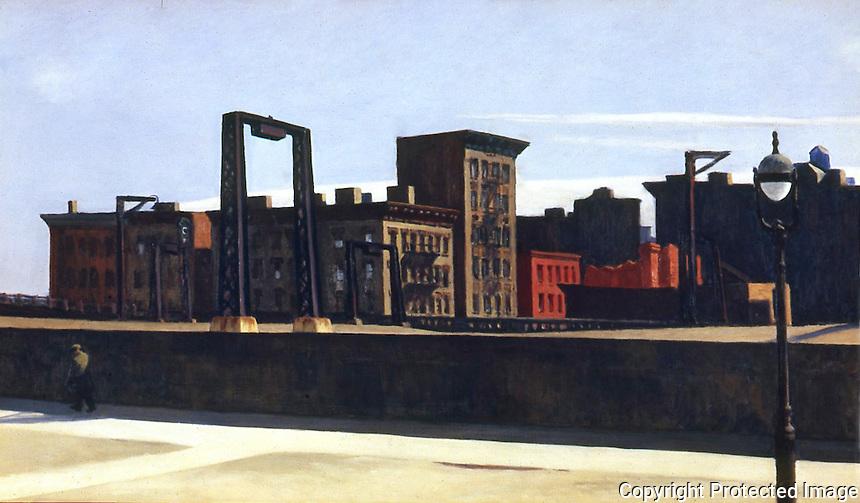 American Painters:  Edward Hopper--Manhattan Bridge Loop 1928.  Oil on canvas. Addison Gallery of American Art.